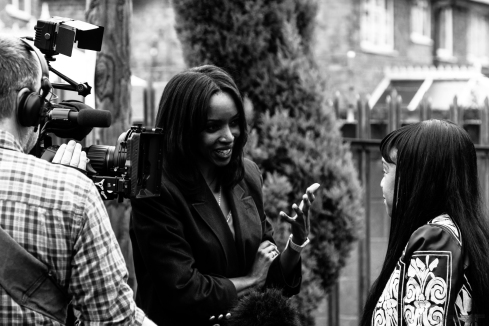 Cafemnee Josie D'Arby Cynthia Interview 5 bw BBC1 Songs Of Praise