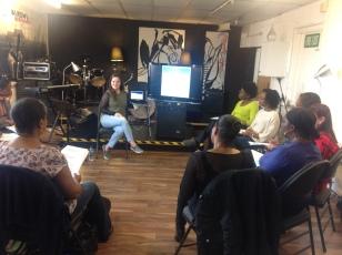 Helen Bentley teaching 1