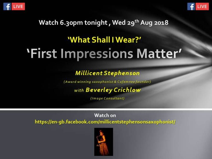 Facebook live Millicent Stephenson Beverley Crichlow 29th augu