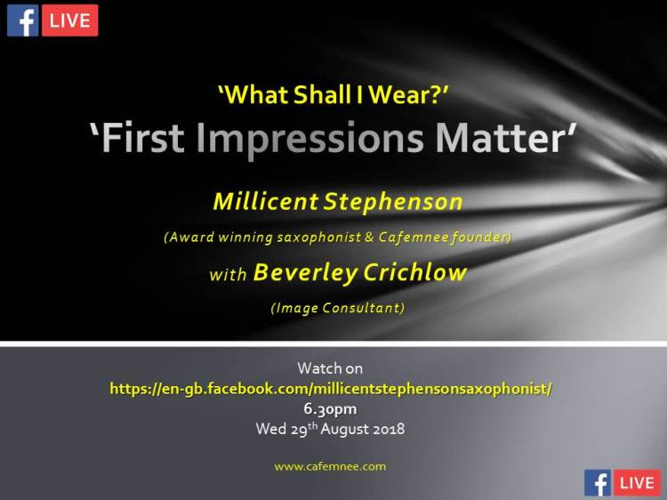Facebook live What Shall I Wear Millicent Stephenson Beverley Crichlow cafemnee