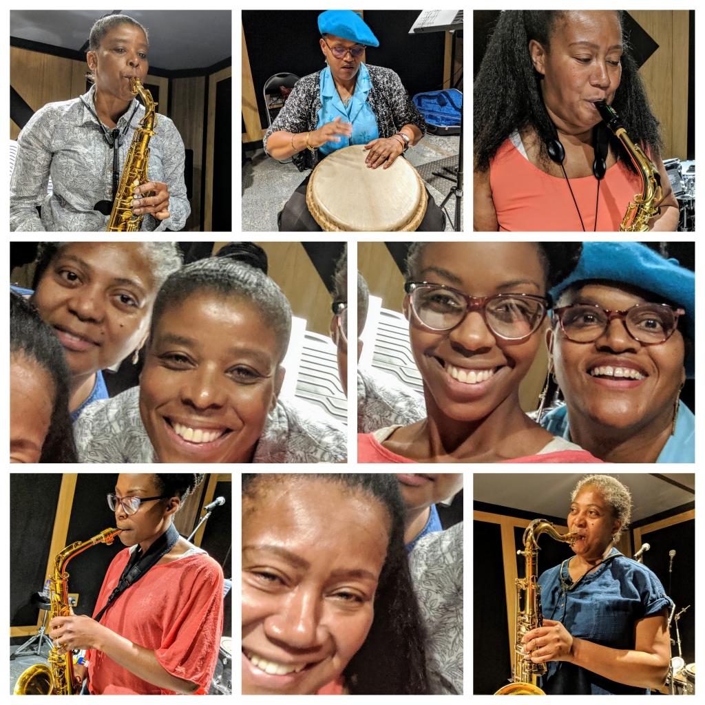 Not Just Jazz 5 Cafemnee Janice Carlene Hillary Sheryl Pat Saxophone Quartet Djembe